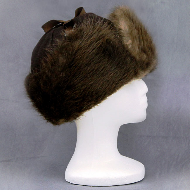 ab093ae8dde Beaver Melton RCMP Hat DESCRIPTION  This hat has a melton crown and beaver  brim and ear flaps. Inside is quilted for extra warmth. SIZE  M