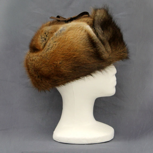 06e56d1af6a Full Muskrat RCMP Hat DESCRIPTION  This hat is all muskrat fur with quilted  inside for extra warmth. SIZE  M
